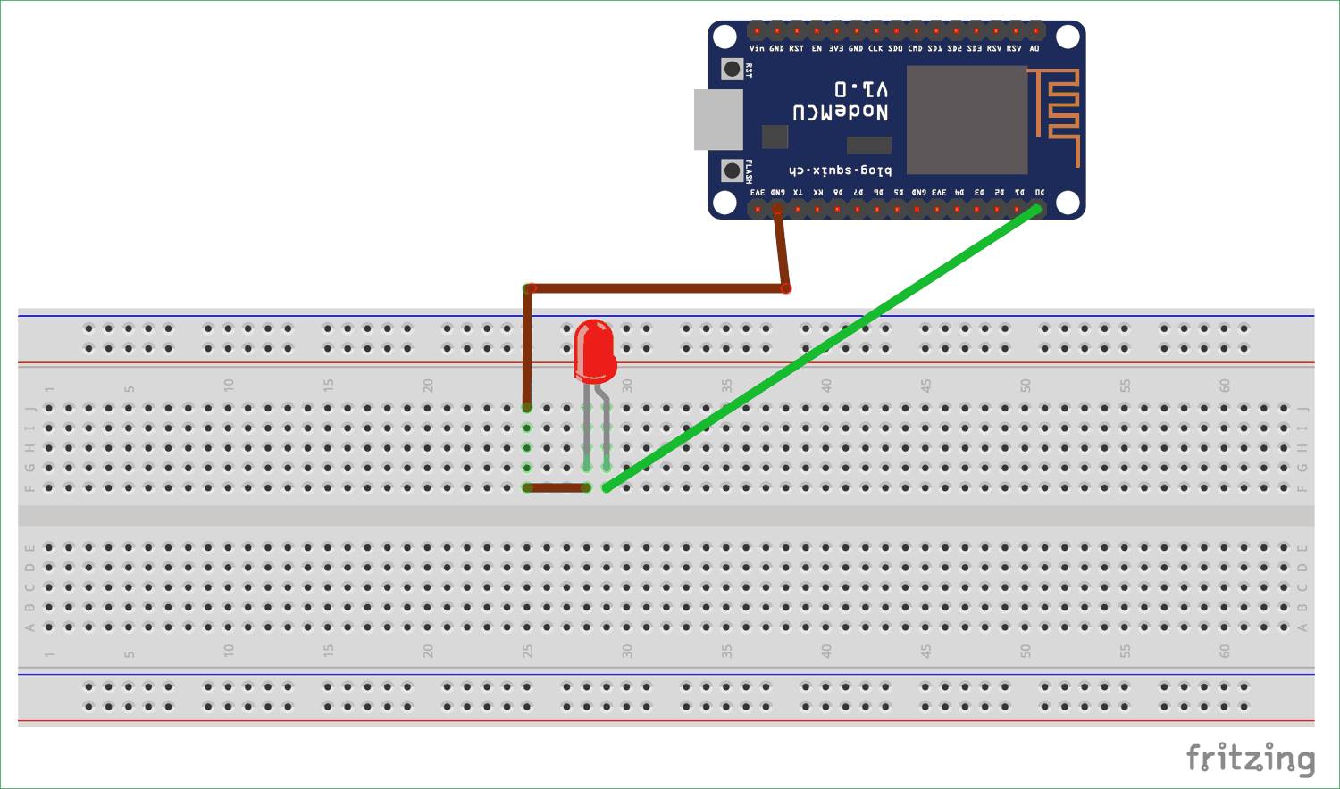 Circuit Diagram For Blink Led With Nodemcu Esp 12 Electronic