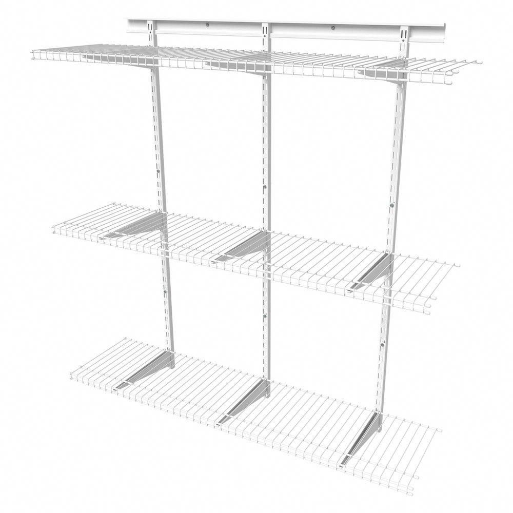 Best Shelftrack 4 Adjustable Shelf Kit Closetmaid White 640 x 480