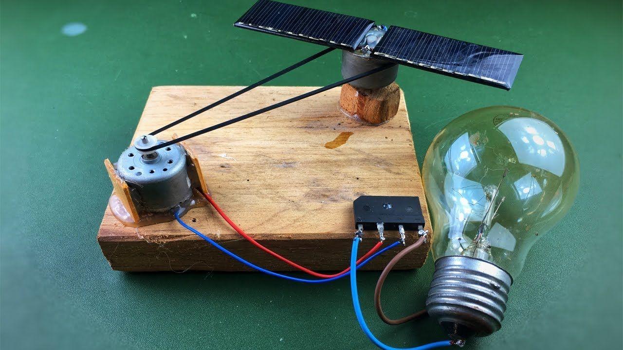 Solar Energy Electricity Free Energy Generator With Light Bulb Using Dc Motor Youtube Free Energy Generator Solar Energy Solar Power