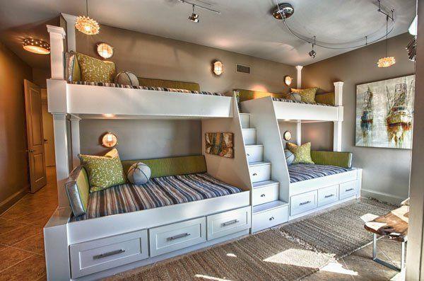 kinderzimmer mit hochbett coole platzsparende wohnideen wohnen pinterest kinderzimmer. Black Bedroom Furniture Sets. Home Design Ideas