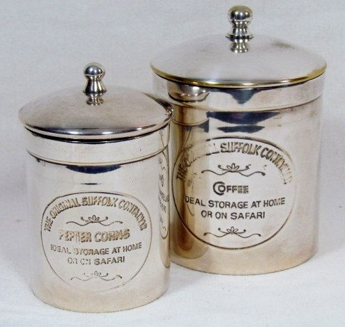 Silver Plated Etched Cannister Set of 2. $29.00, via Etsy.
