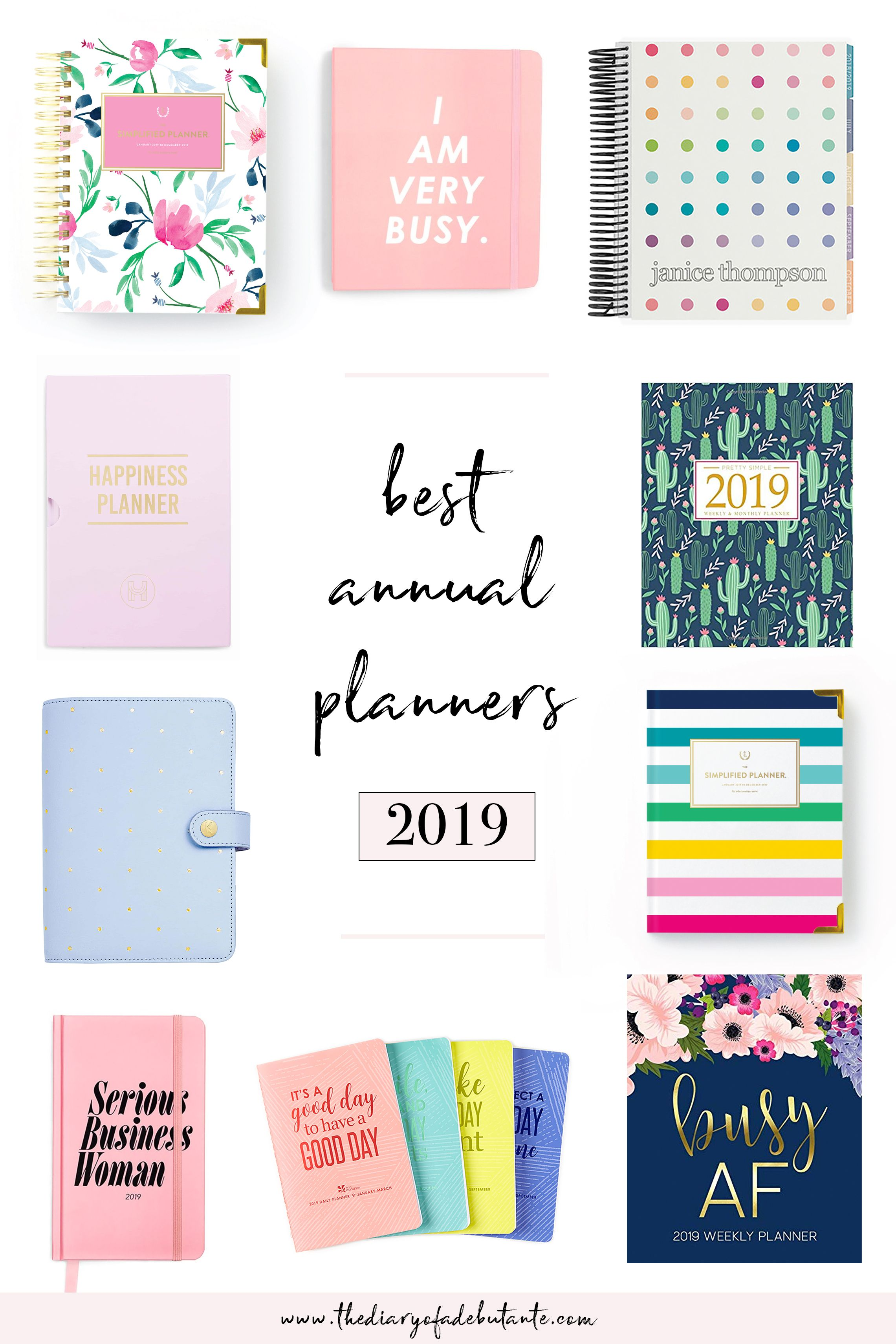 Best Planner 2019 Best Planners for Working Women: 2019 Annual Planner Round Up
