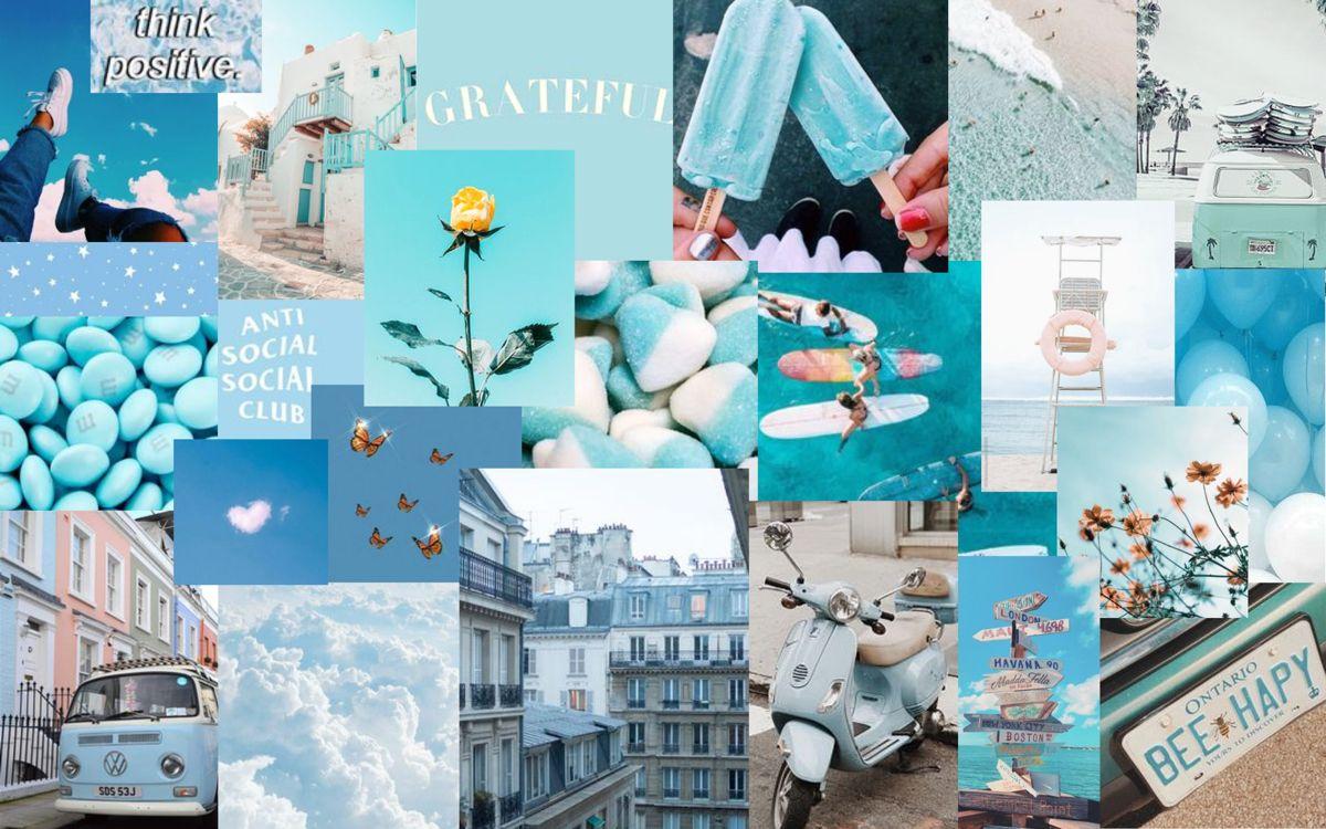 Blue Vibezzzz Macbook Air Wallpaper Cute Desktop Wallpaper Macbook Wallpaper