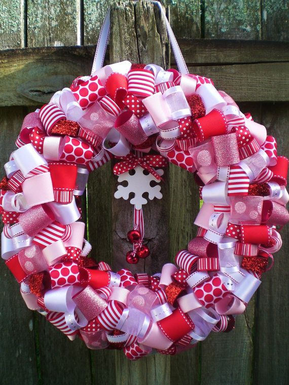 Red, Pink, and White Peppermint Candy Cane Themed Winter Christmas