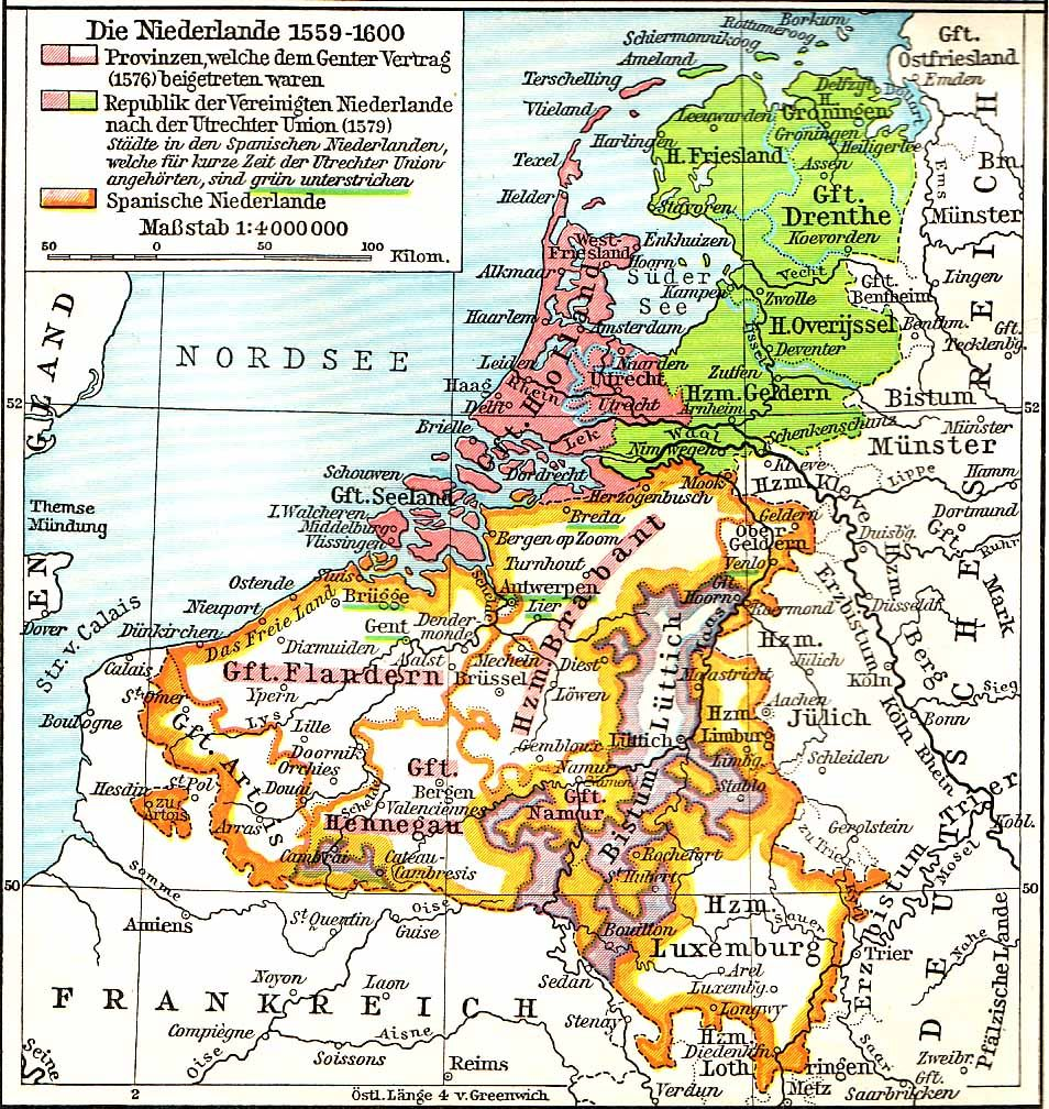 An Old German Map Of The Netherlands Old Maps - Map 9f germany
