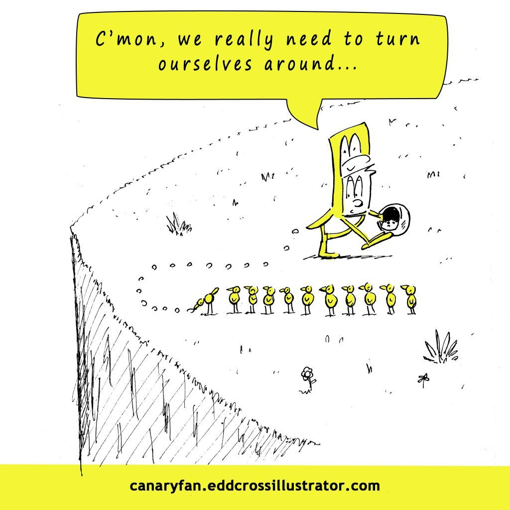 Canary Fan Cartoon: Turn ourselves around (Norwich City Vs QPR)
