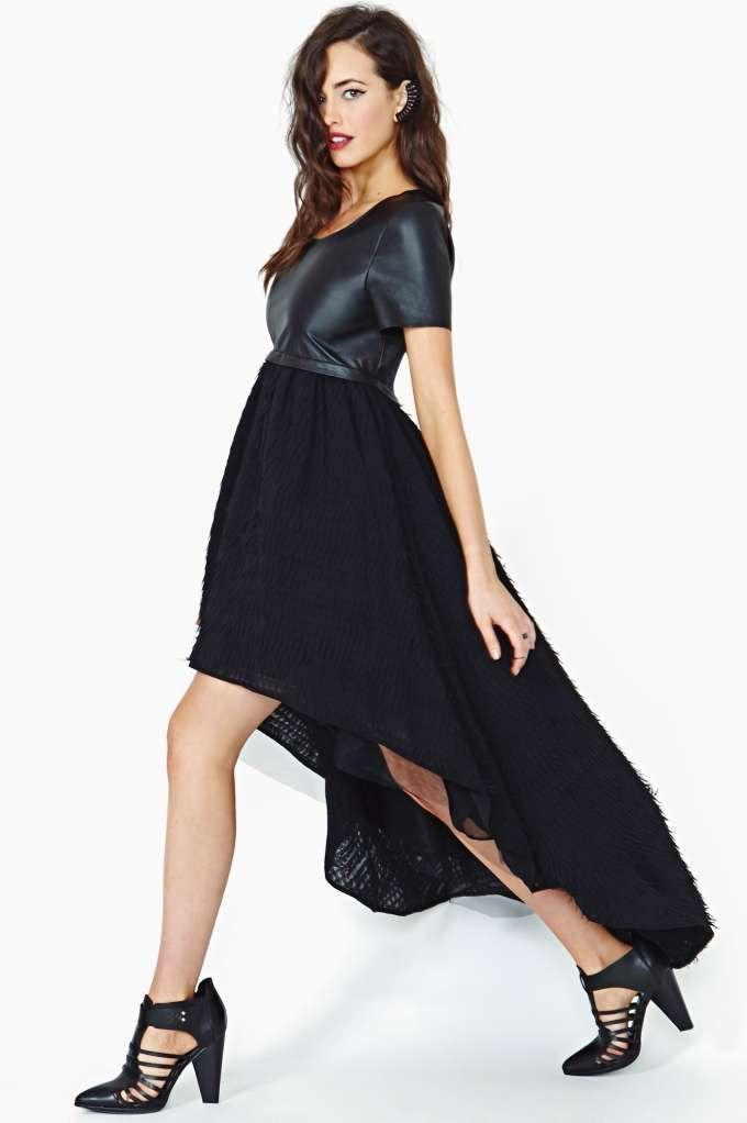 918108fe83d2 Nasty Gal Collection Flutter Effect Leather Dress