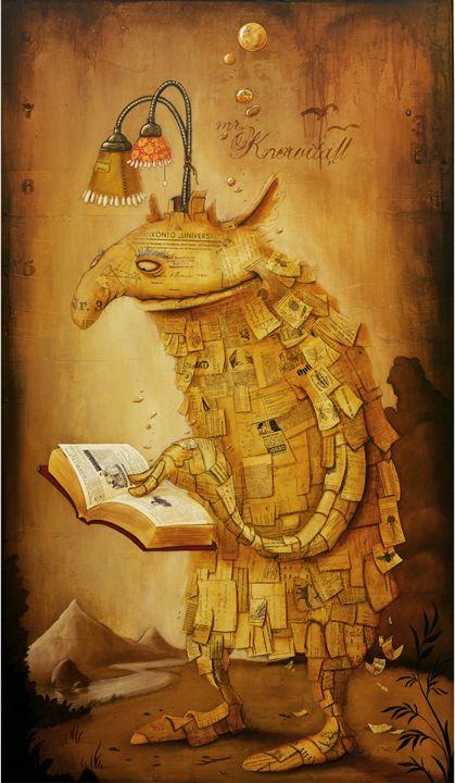 Freakishly reader / Monstruosamente lector (ilustración de Johan Potma)