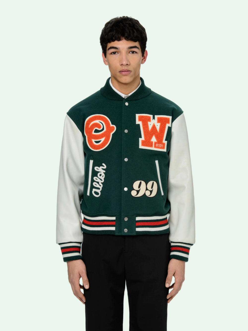 Pin By Foxylady Diary On Pre Fall 2020 Leather Varsity Jackets Varsity Jacket Varsity Bomber Jacket [ 1333 x 1000 Pixel ]