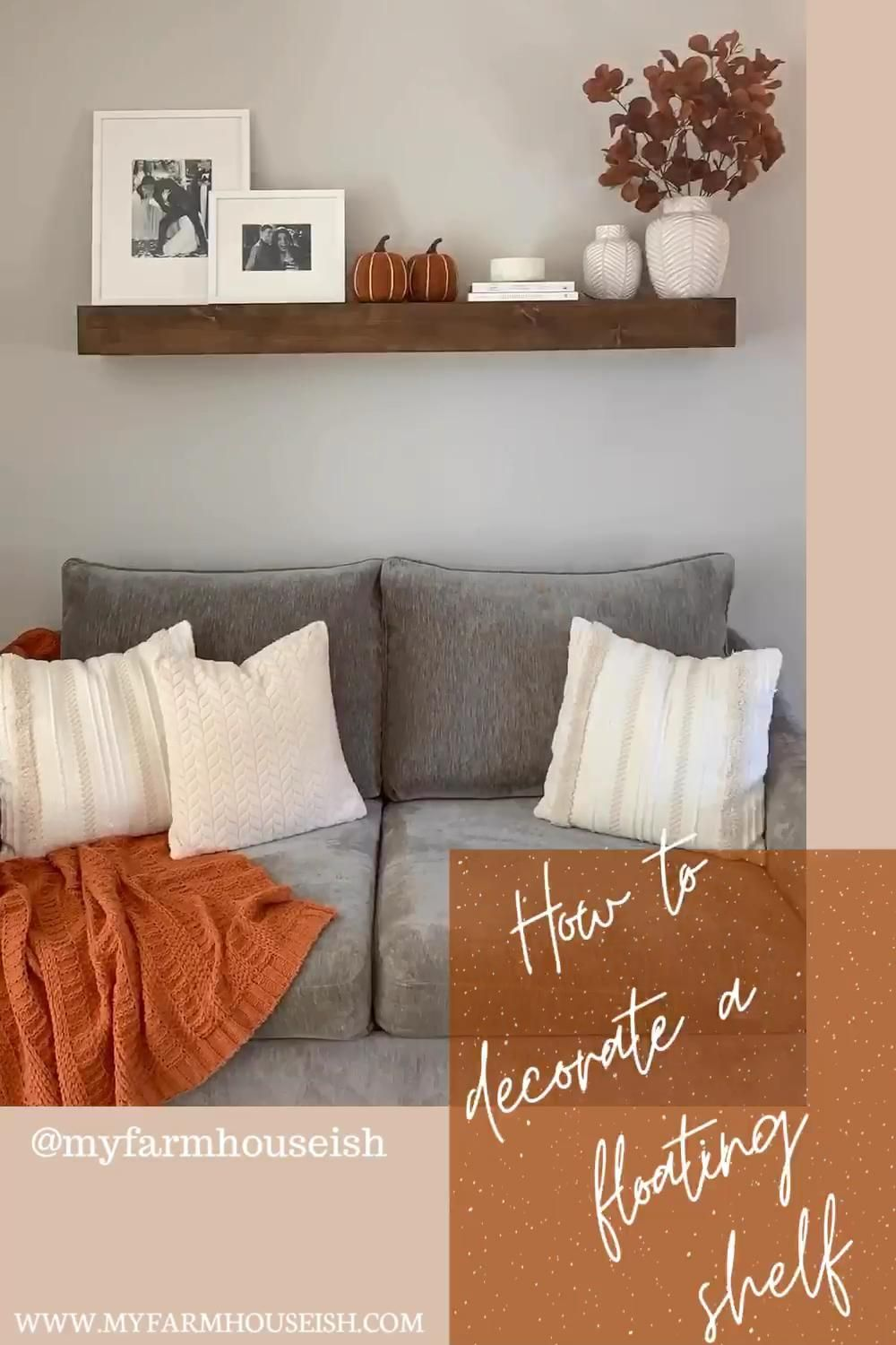 Photo of How to Decorate a Floating Shelf for Fall