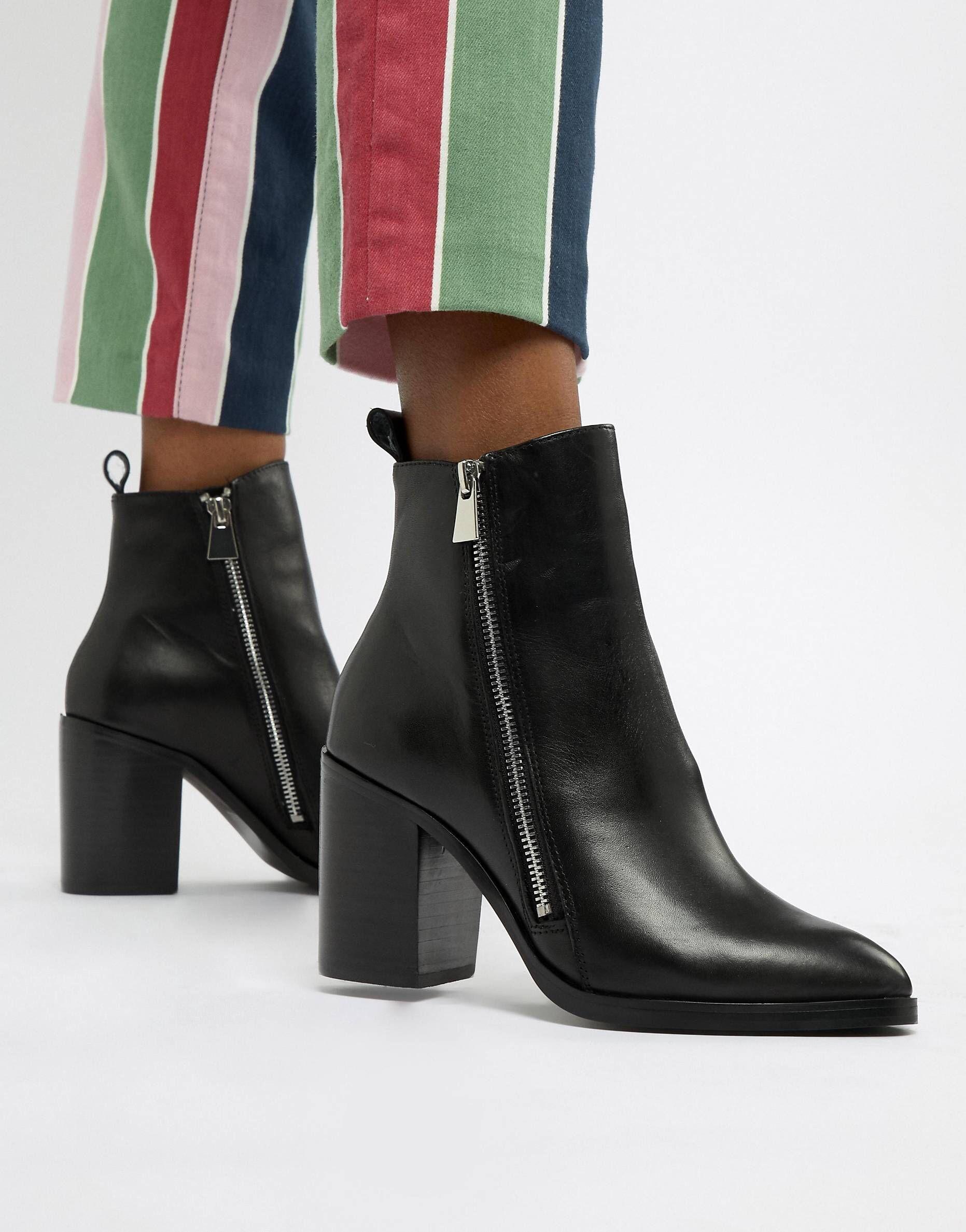 996c5f77242 Steve Madden Tasha Leather Side Zip Heeled Boot in 2019 | SHOES ...