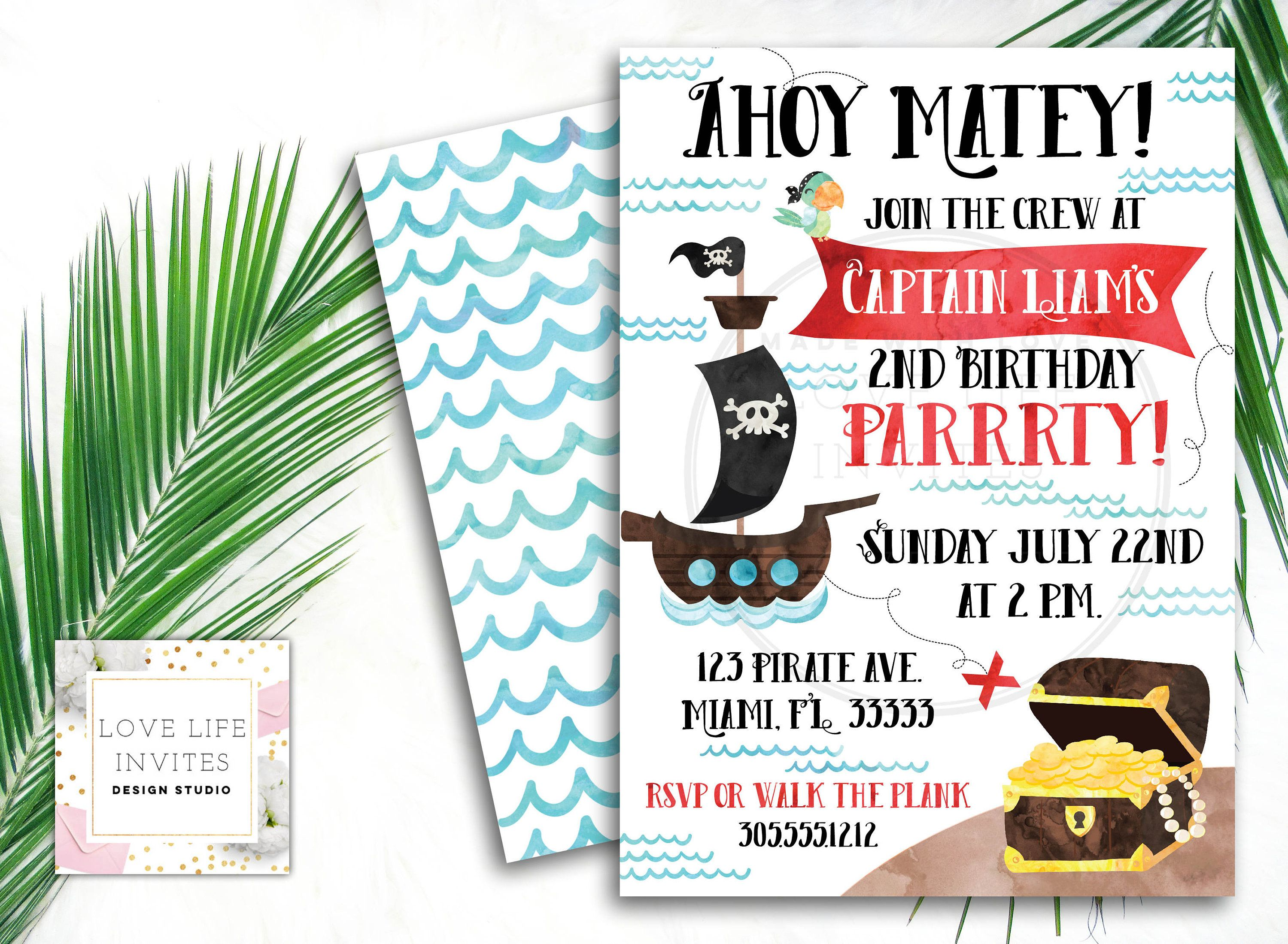 pirate birthday invitation birthday invitation kids birthday