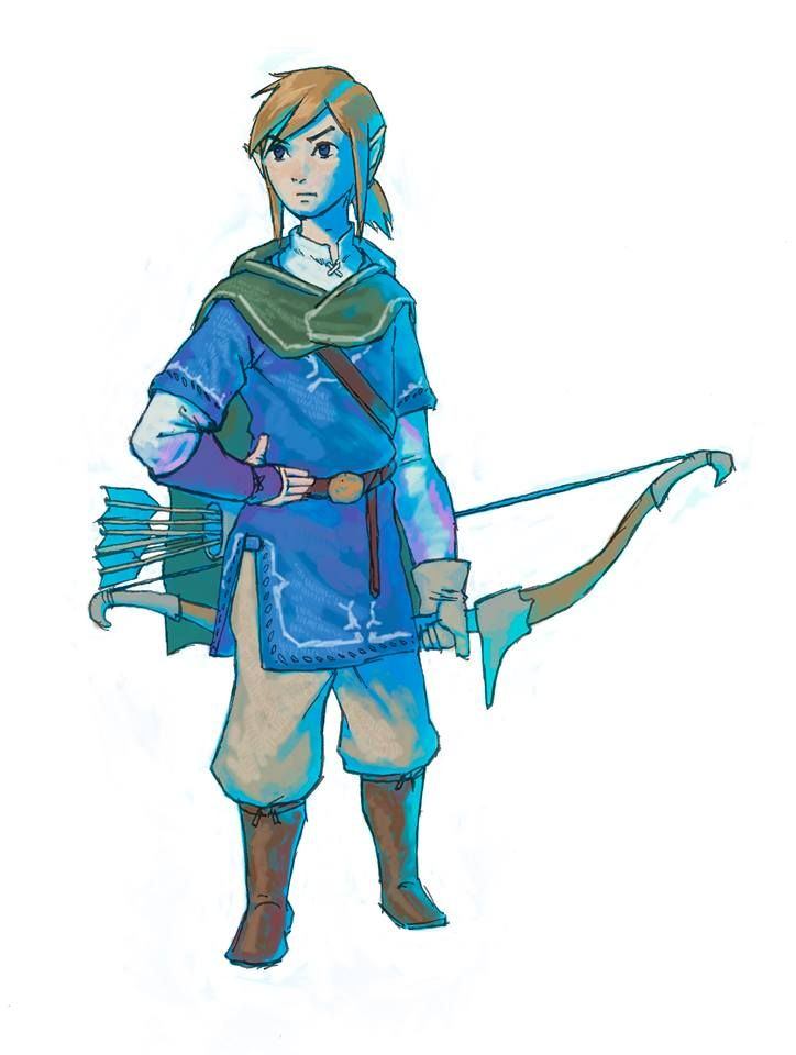 Concept Art of Link from Breath of the Wild by Nintendo ...