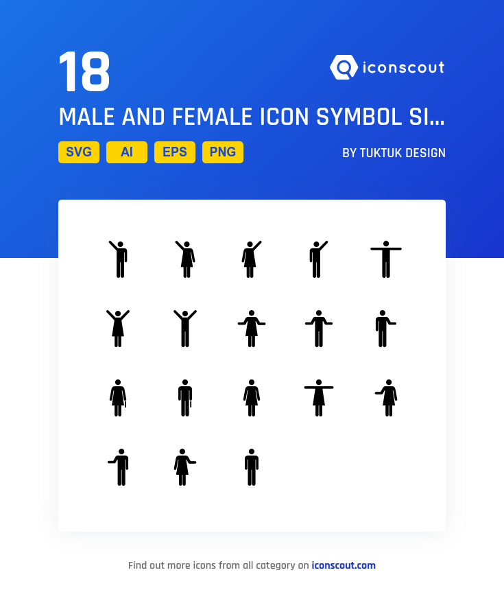 Download Male And Female Symbols Icon Pack Available In Svg Png Eps Ai Icon Fonts Female Symbol Icon Pack Icon Font