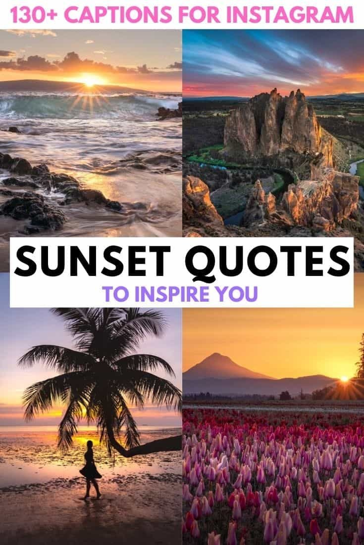 130 Of The Best Sunset Captions For Instagram Funny Cute Short Inspiration And Original Su In 2020 Sunset Captions Sunset Captions For Instagram Travel Instagram