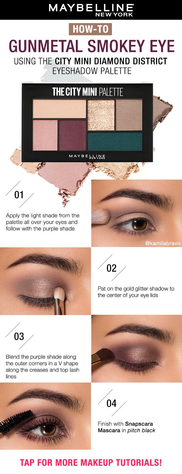 Shimmery Eyeshadow Tutorial Eye Makeup Palette Eyeshadow Eye Makeup