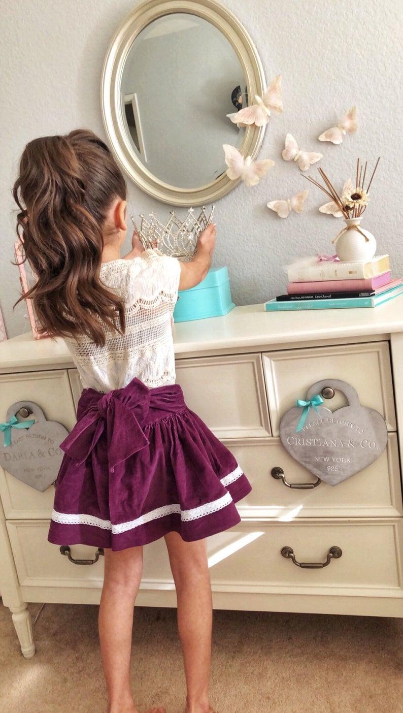 Children's clothes, Baby clothes, Girls skirt, Purple