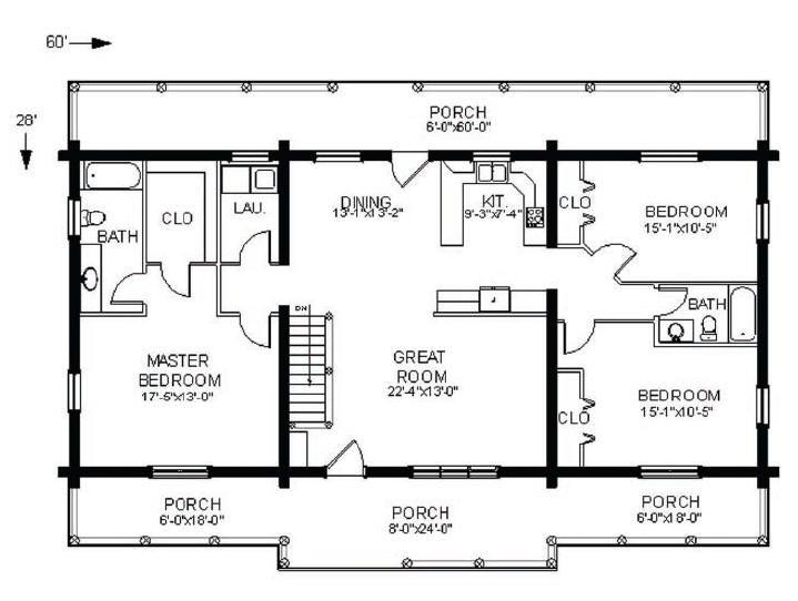 Log Home Floorplan: Swan Valley : The Original Lincoln