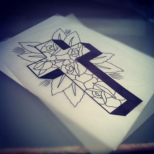 Pin On Tattoo Flash Crosses
