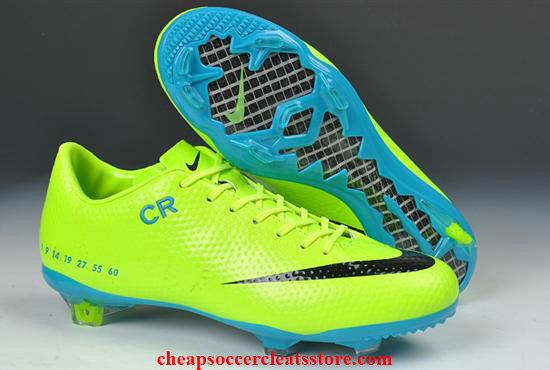 differently fadf8 ee09e Limited Edition Nike Mercurial Vapor IX CR SE FG Fluorescent Green Blue Black  Cheap Soccer Cleats