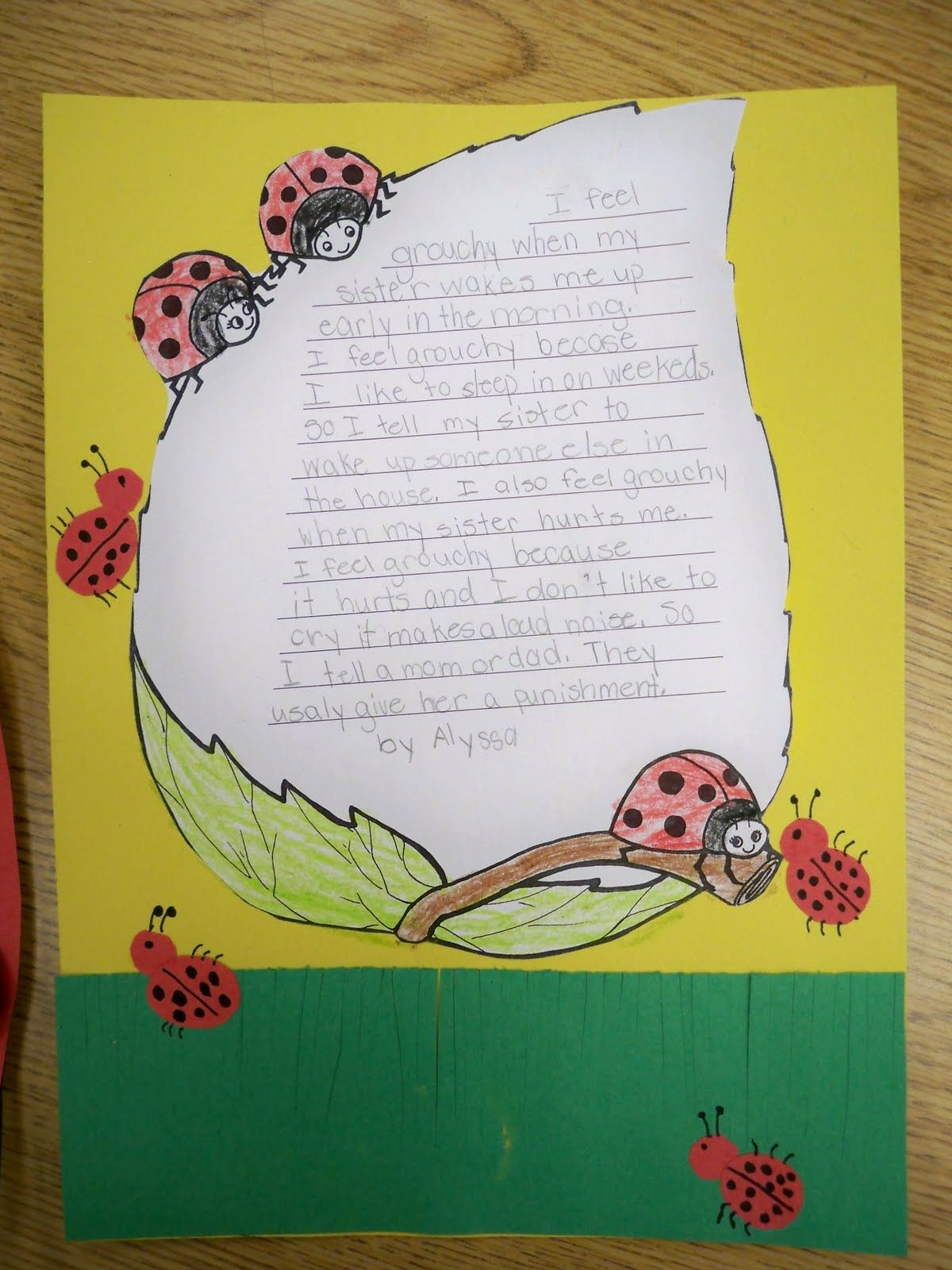 This Meets 2nd Grade Science Teks Ladybug Writing
