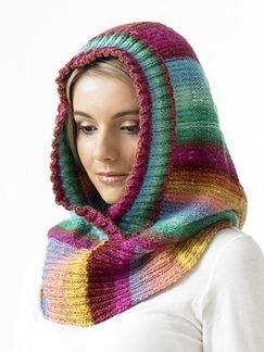 Hooded Neck Warmer. | Knitted cowl scarves, Knitted hood ...