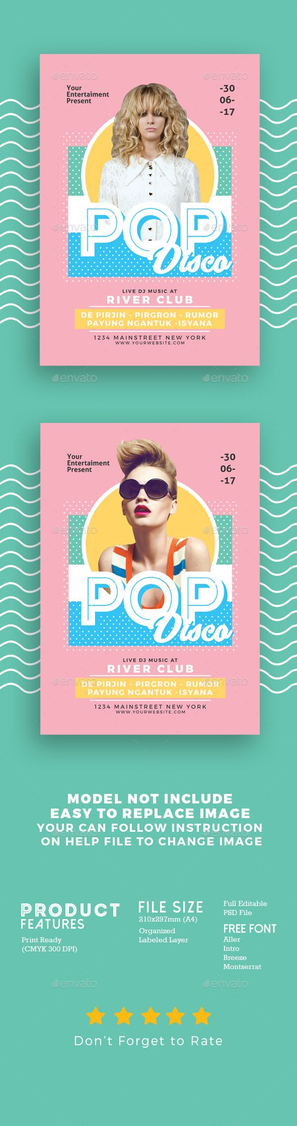 Pop Disco Flyer  Discos Flyer Template And Template
