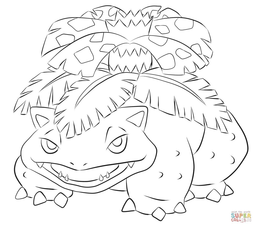 Pokemon Coloring Pages Venusaur Pokemon Coloring Pokemon