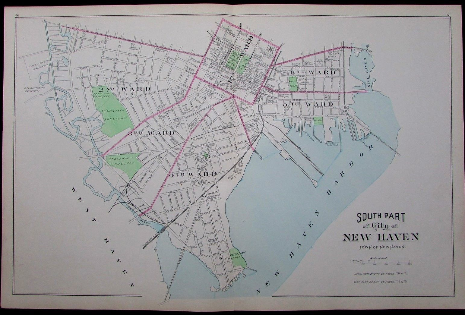 awesome South New Haven Connecticut 1893 Harbor front docks large