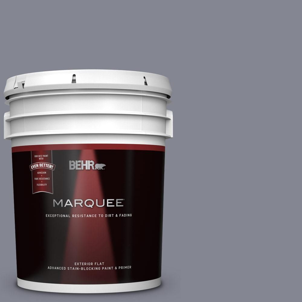 Behr Marquee 5 Gal Ppu16 15 Gray Heather Flat Exterior Paint And