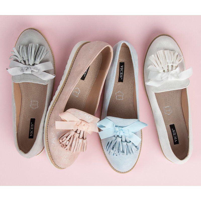 Vices Zamszowe Lordsy Z Fredzlami Niebieskie Shoes Wedding Shoe Mule Shoe
