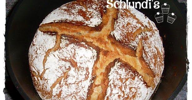 Kesselbrot - No-Knead Bread 1,5 kg Laib Rezept ohne Thermomix oder