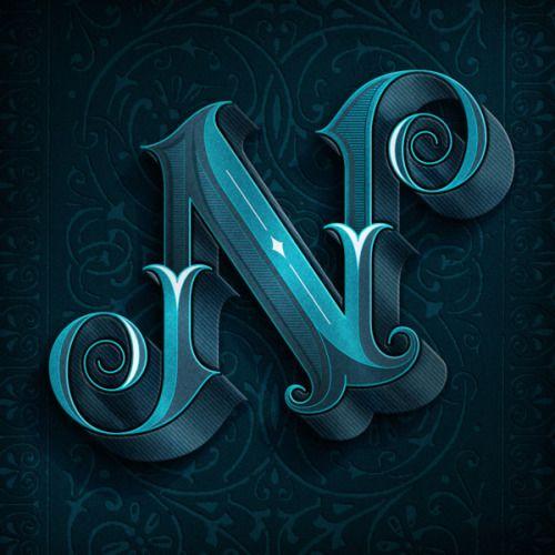 Beautiful N from Joel Felix(via Behance)