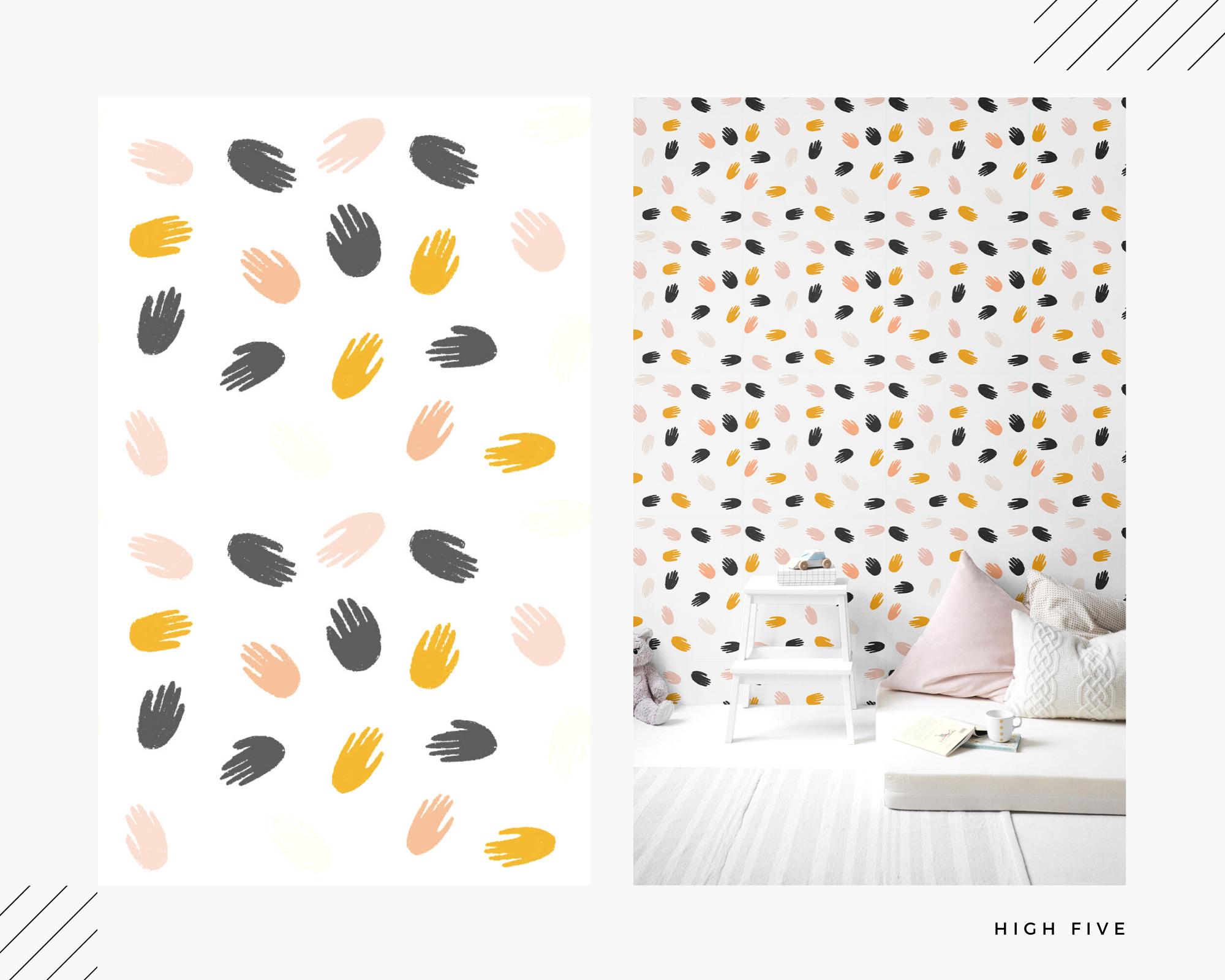 White Marble Self Adhesive Wallpaper Playroom Wallpaper Gender Neutral Nursery Kids Room Design