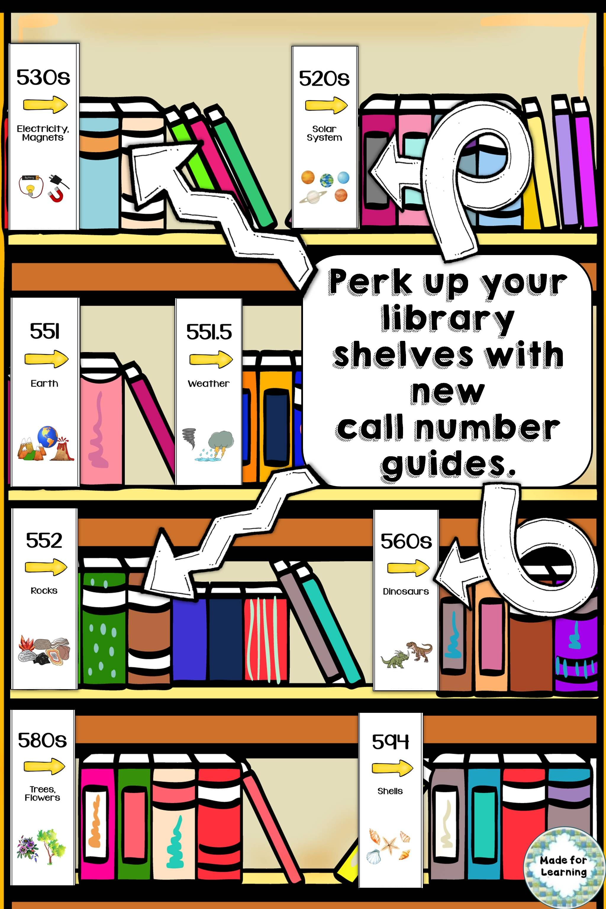 Library Skills Dewey Decimal Call Number Guides Labels
