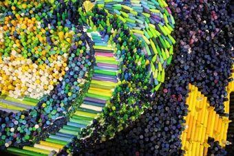 Suzi Furtwangler - Noah's Ark Crayon Mosaic - ArtPrize Entry Profile - A radically open art contest, Grand Rapids Michigan