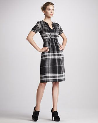 Exploded-Check Dress by Burberry Brit at Neiman Marcus. #NMFallTrends
