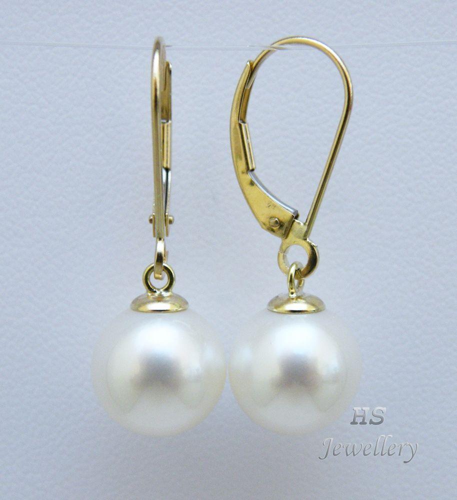 HS Round 10mm South Sea Cultured Pearl Hoop Earrings
