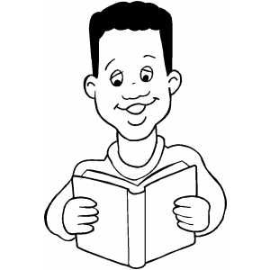 Boy Reading Book African American Boys Coloring Pages For Boys