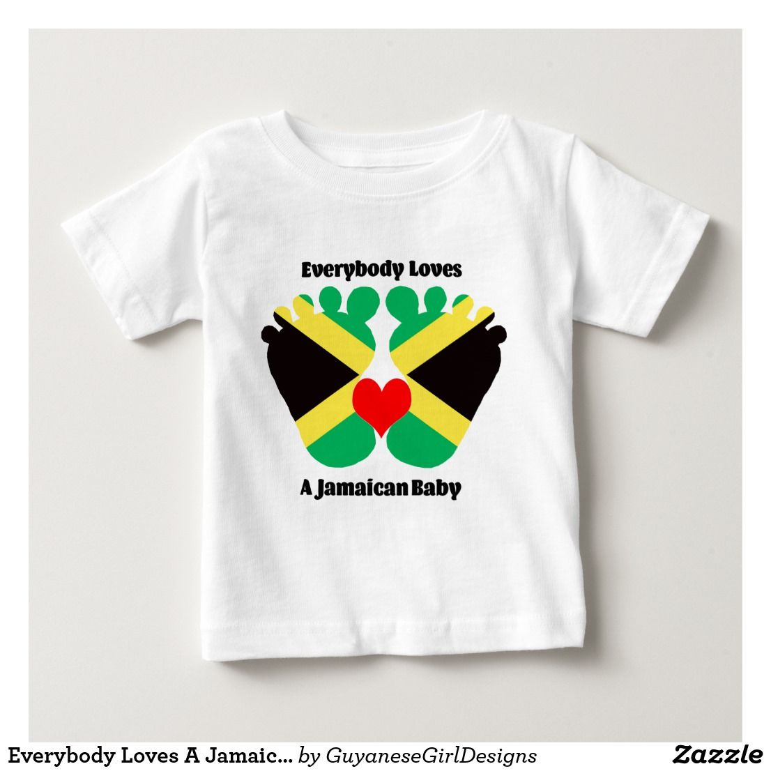 Everybody Loves A Jamaican Baby Jersey T-Shirt