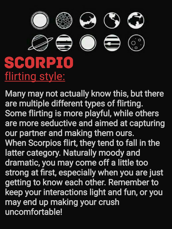 different types scorpio astrology