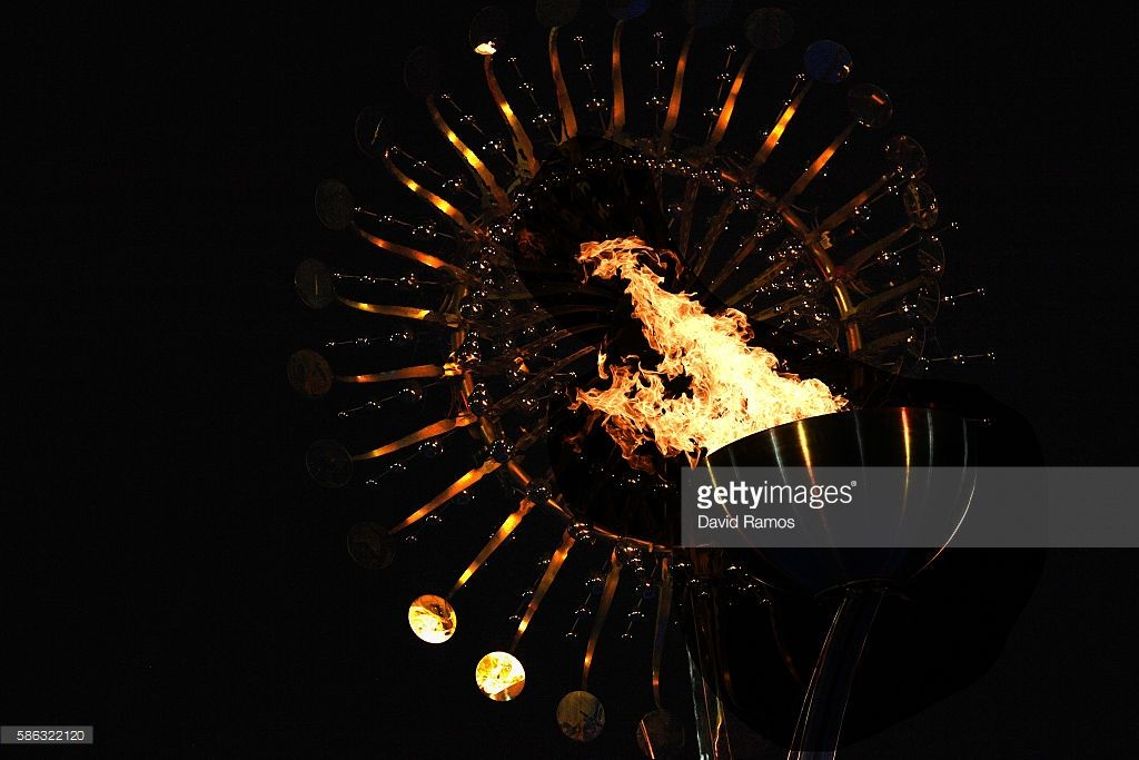 The Lighting of the Olympic Cauldron   Summer olympic ...