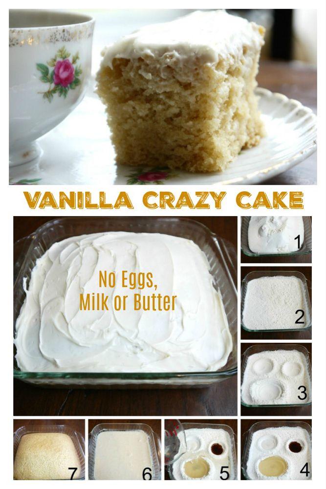Vanilla Crazy Cake - No Eggs, Milk or Butter (EASY PANTRY ...