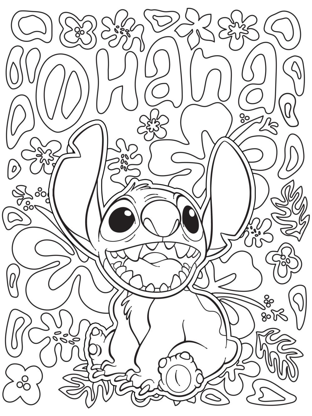 Celebrate National Coloring Book Day with Disney Style Lilo & Stitch printable coloring page