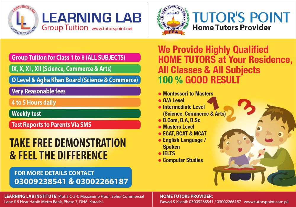 Tuition Centre Home Tuition Advertisement Sample In Word