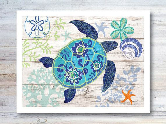 Note Card / Salty Sidekick / Sea Turtle / Whimsical Turtle / Happy Beach Art / Invitation / Thank You / All Occasion / Illustration
