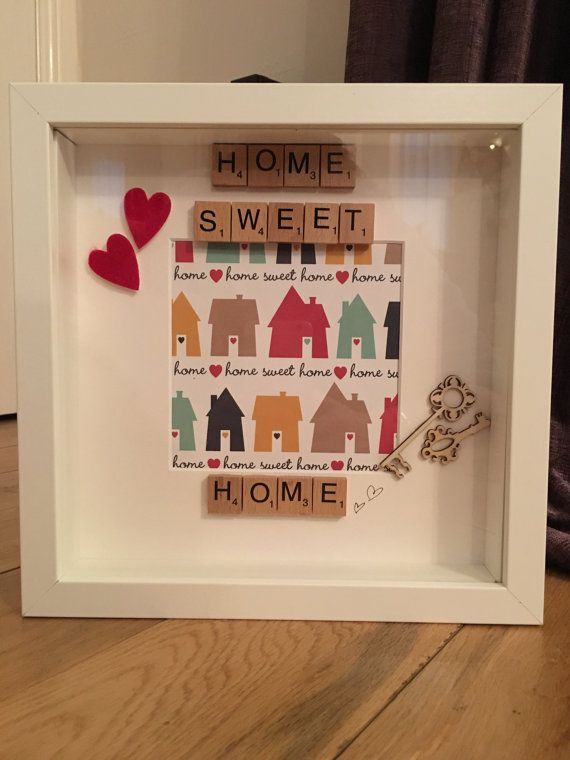Personalised Scrabble Frame Home Sweet Home By Bethsfamilyframes