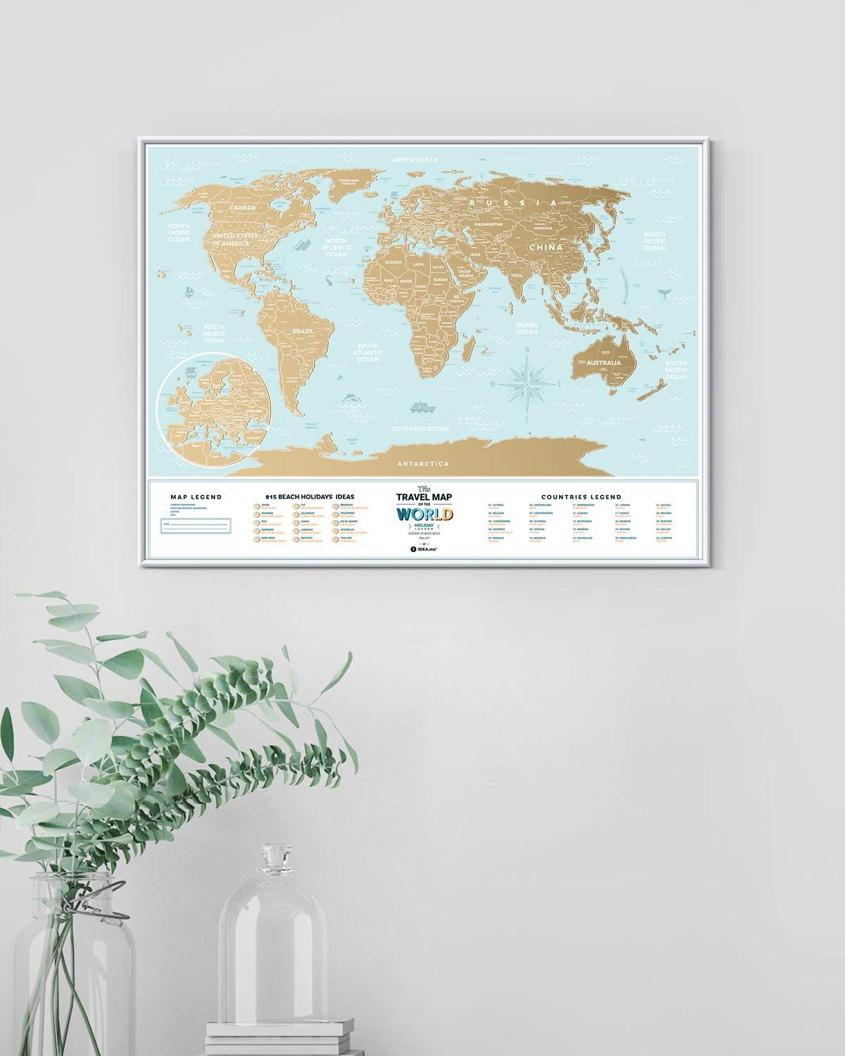 Travel Blog With Map Pin On Perfect Gifts Scratch Off Maps