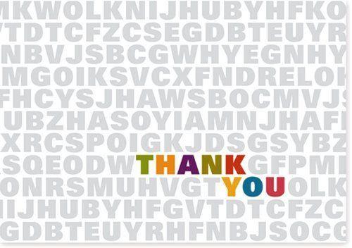 Alphabet Soup Thank You Notes (Stationery, Note Cards) by Peter Pauper Press, http://www.amazon.com/dp/1593597673/ref=cm_sw_r_pi_dp_Pig3qb1BM49Z2
