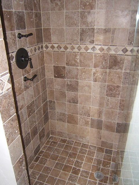 Tile shower for the home pinterest tile showers master bath shower and bath shower Tile shower stalls